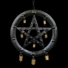 Muurhanger Pentagram met Belletjes