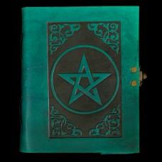 Leren Book Of Shadows Pentagram Groen