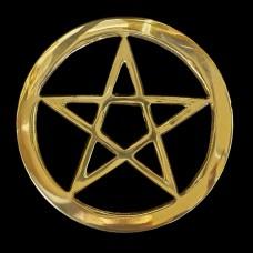 Altaartegel Pentagram Messing