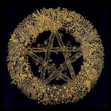Altaarkleed Pentagram met Kruiden