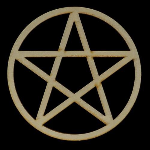 Altaartegel Pentagram Hout Smal