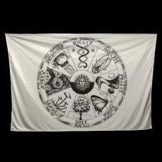 Wandkleed Jaarwiel 150 x 100 cm