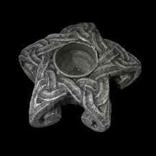 Pentagram Spellkaars Kandelaar Tin