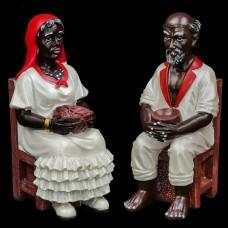 Beeldenset Francisca & Francisco