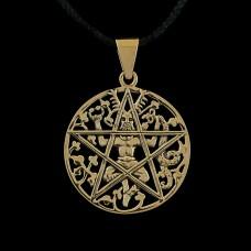 Hanger Cernunnos Pentagram Brons