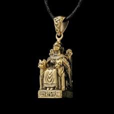 Bronzen Hanger Freya Zittend