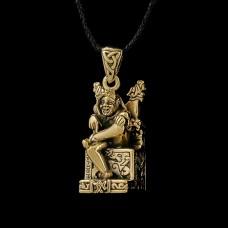 Bronzen Hanger Loki Zittend