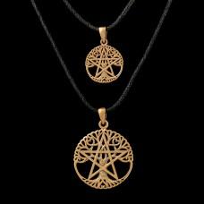 Levensboom Pentagram Hanger Roodkoper