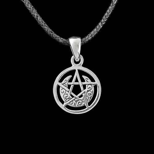 Hanger Maansikkel Pentagram Zilver Klein