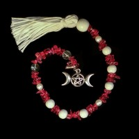 Goddess Prayer Beads Triple Moon