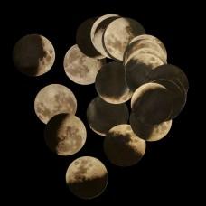 Stickerset Maanfasen