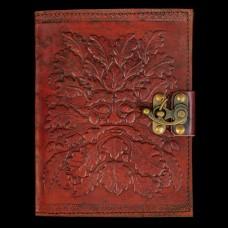Leren Book Of Shadows Green Man