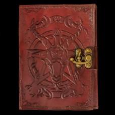 Leren Book Of Shadows Baphomet