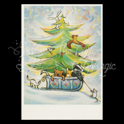 Kerstslee Kerstkaart