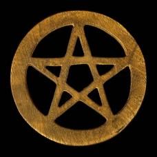Altaartegel Pentagram Hout