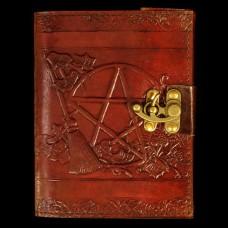 Leren Book Of Shadows Pentagram en Bezem