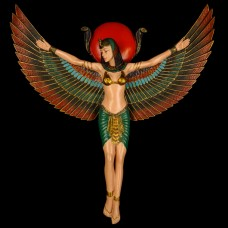 Muurhanger Isis met Vleugels