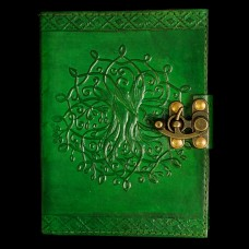 Leren Book Of Shadows Levensboom Groen