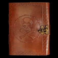 Leren Book Of Shadows Skull & Crossbones