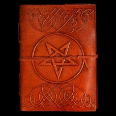 Leren Book Of Shadows Omgekeerd Pentagram