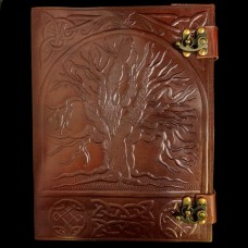 Groot Leren Book Of Shadows Levensboom