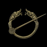 Grote Bronzen Fibula Zwijnen