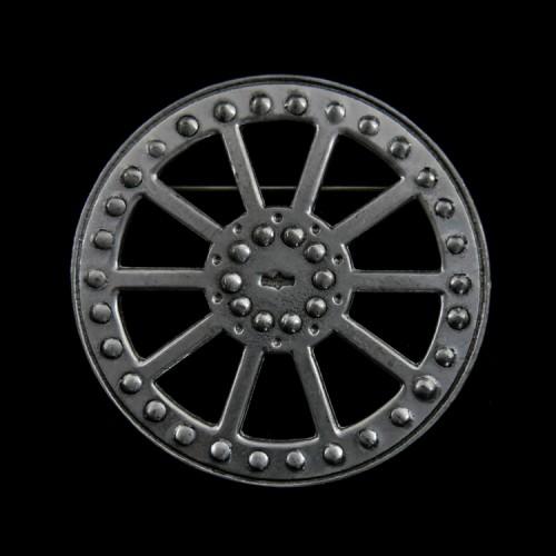 Broche Celtic Wheel