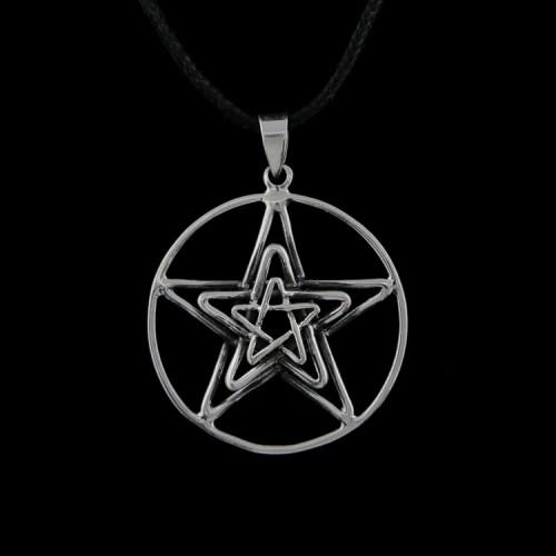 Hanger 3 Pentagrammen Zilver
