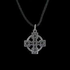 Hanger Druïden Kruis Zilver