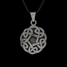 Hanger Keltische Knoop Rond Zilver