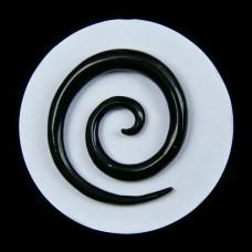 Hoornen Stretcher Spiraal (oorbel)