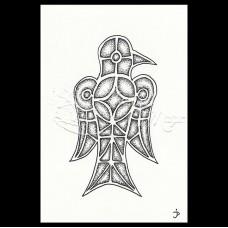 Gothic/Merovingian Bird Ansichtkaart