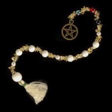 Goddess Prayer Beads Pentagram Brons