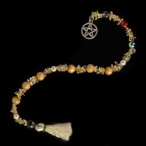 Goddess Prayer Beads Pentagram