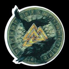 Sticker Valknut Raven & Runen