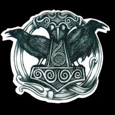 Sticker Mjölnir, Huginn & Muninn