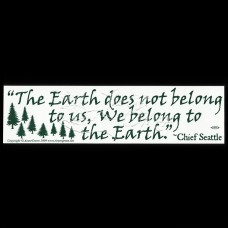 Bumpersticker Earth Does not Belong to Us
