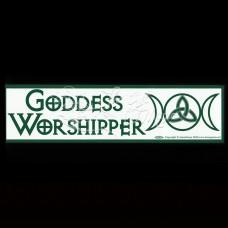 Bumpersticker Goddess Worshipper