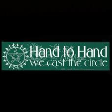 Bumpersticker Hand to Hand