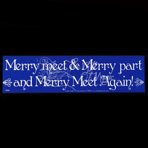 Bumpersticker Merry Meet