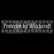 Bumpersticker Protected by Witchcraft