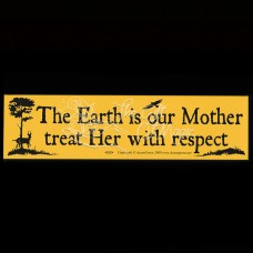 Bumpersticker Earth is our Mother