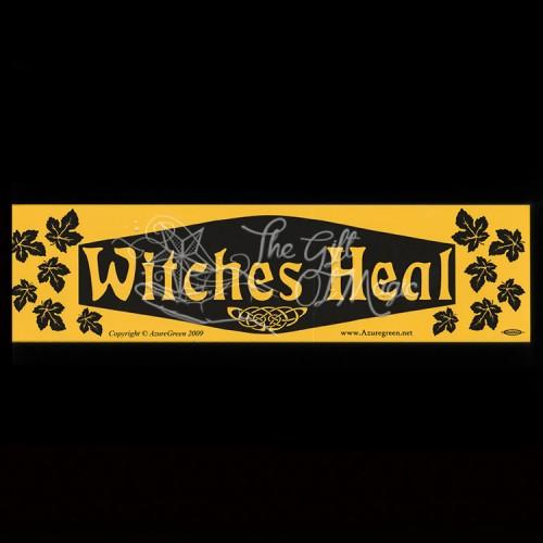 Bumpersticker Witches Heal