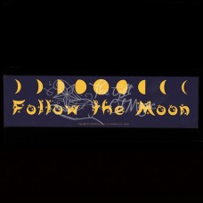 Bumpersticker Follow the Moon