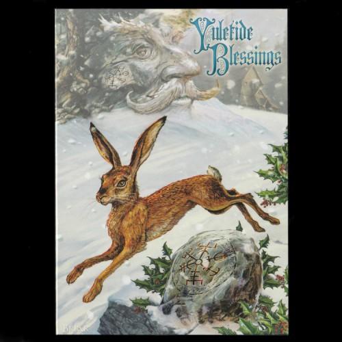 Midwinter Rune Hare Kerstkaart