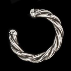 Grove Zilveren Armband Gedraaid