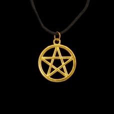 Hanger Pentagram Goudkleurig