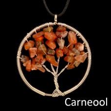 Hanger Edelsteen Levensboom (meerdere soorten verkrijgbaar)