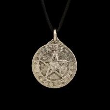 Scrying Hanger met Obsidiaan en Pentagram