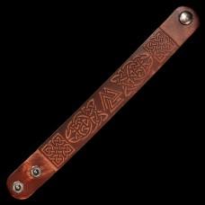 Leren Armband Valknut Donker